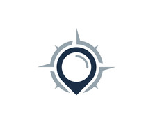Compass Point Icon Logo Design...