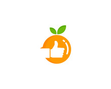 Good Fruit Icon Logo Design El...
