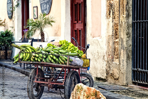 Photo  Fruit cart on the streets of Havana Cuba
