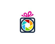 Photo Gift Icon Logo Design Element