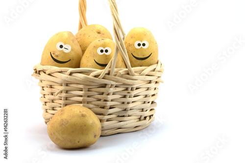 Photo  Kartoffeln mit lustigen Gesichtern
