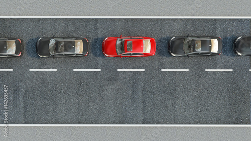 cars-on-the-road-3d-illustration