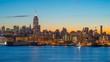 USA, New York, Manhattan, Midtown, Empire State Buiding TIMELAPSE Night to Day