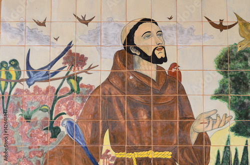 Saint Francis and the Birds Tapéta, Fotótapéta