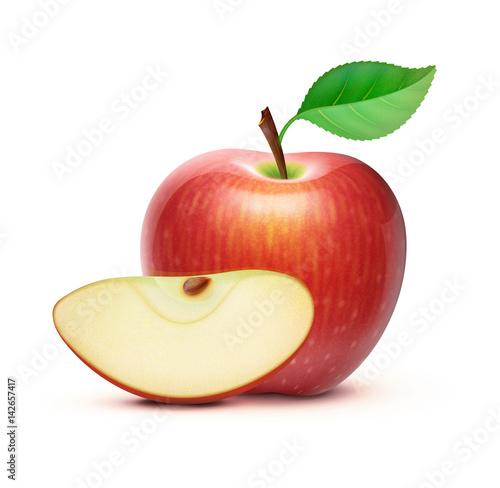 Fotomural Red apple