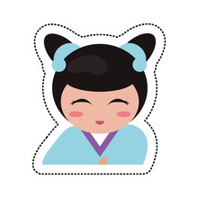 Portrait Kokeshi Girl Characte...