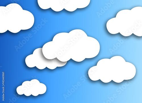 Foto op Plexiglas Hemel graphic cloud for backgroud