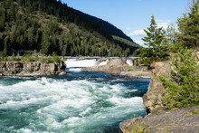 Kootenai Falls In Northern Mon...