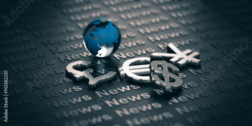 Fotografie, Obraz  Currency Market News