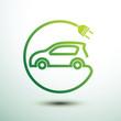 Electric car vector