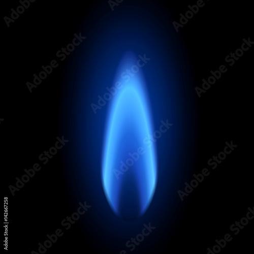 Flamme bleue Canvas Print