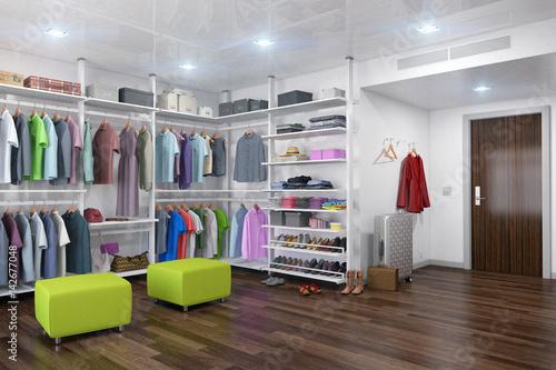 Ankleideraum Begehbarer Kleiderschrank Ankleidezimmer Interior