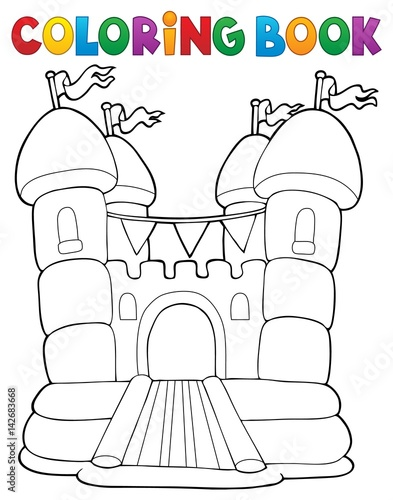 Recess Fitting For Kids Coloring book inflatable castle