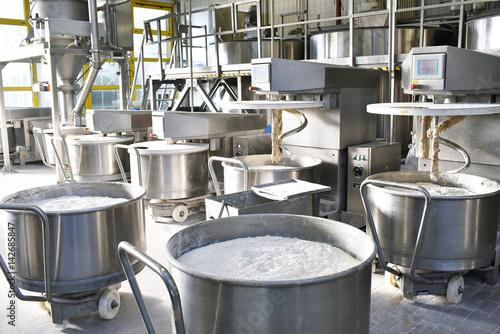 Fotografie, Obraz  Interieur einer Großbäckerei - Maschinen und Zutaten // Interior of a large bake