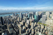 Manhattan panoramic view on a sunny day