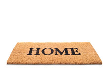 Doormat With The Word Home Written On It