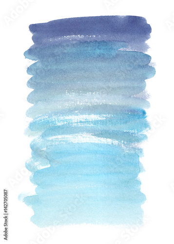 Dark Blue To Light Blue Backdrop Gradient Painted In