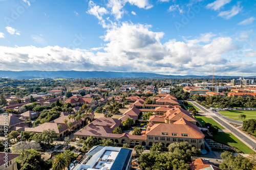 Aerial view of Stanford University Campus - Palo Alto, California, USA Wallpaper Mural