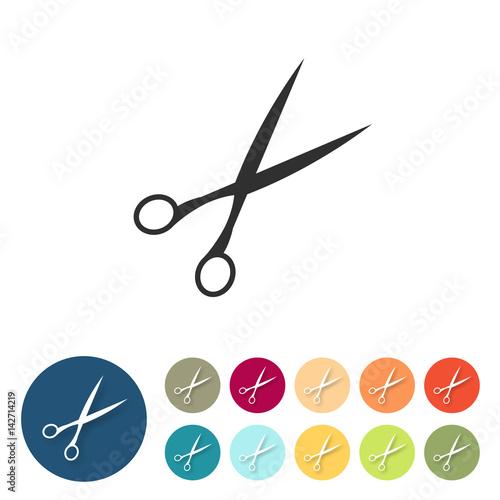 Button Set Bunt Flach Schere Friseur Kaufen Sie Diese