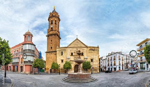 Obraz na plátně  Panorama of San Sebastian square in Antequera