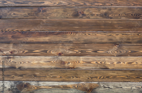 Tuinposter Hout Wooden rustic fence of boards