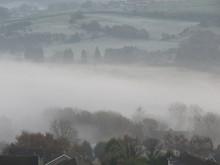 Greetland In Fog