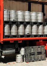 Truck Barrels Of Beer