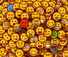 Yellow Smiles Background. Emoj...
