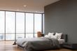 Dark gray wall bedroom, side