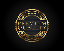 Premium Quality Badge Gold
