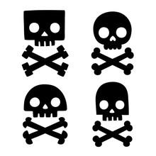 Stylized Skull And Bones Set