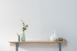 canvas print picture - modern home objects on the wooden desk