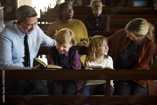 Church People Believe Faith Religious Canvas-taulu