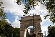 Washington Square Arch With Tr...