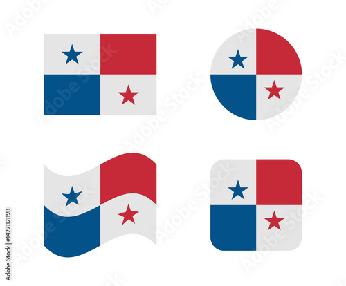 Cuadros en Lienzo  set 4 flags of panama