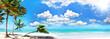 Ferien, Tourismus, Glück, Freude, Ruhe, Auszeit, Meditation: Traumurlaub an einem einsamen Strand in der Karibik :)