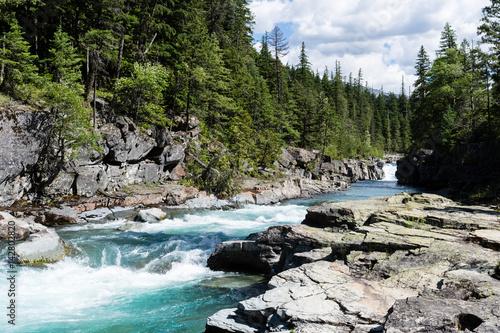 Fotografie, Obraz  McDonald creek in Glacier National Park, USA