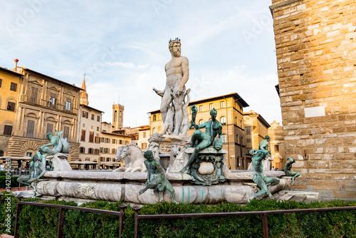 Zdjęcie XXL widok Florencji ze starym mostem w sercu Toskanii