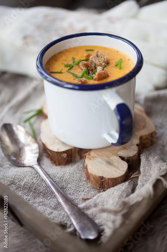 Foto op Plexiglas Chocolade Sweet potato soup