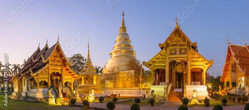 Spoed Foto op Canvas Temple Wat Phra Singh in Chiang Mai, Thailand.