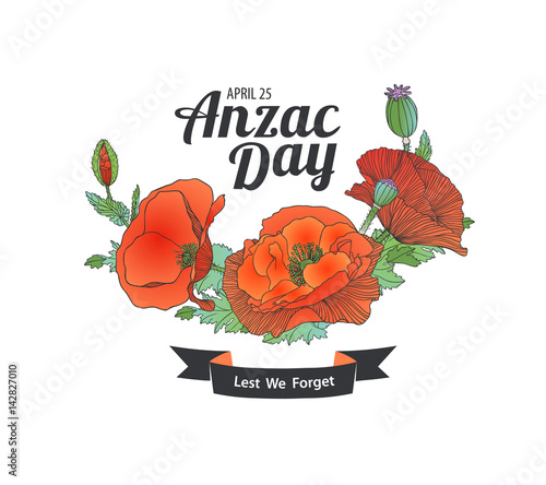 Anzac Day. Lest we forget Canvas Print
