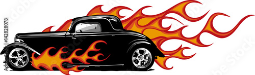 Photo automobile infuocata