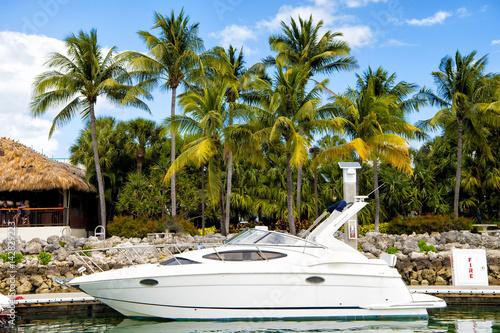 Plakat Marina w Miami Beach, Floryda, USA