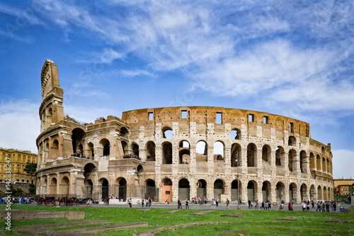 Rome, Italy,The Colosseum or Coliseum,as the Flavian Amphitheatre, is an oval amphitheatre in the centre of the city Canvas Print