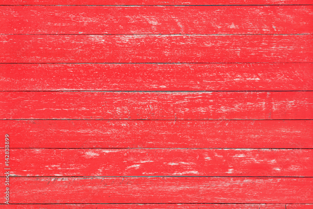 Fototapety, obrazy: Distressed red rustic wood backdrop