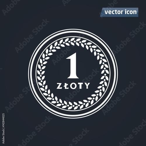 Fotografía 1 zloty old coins vector
