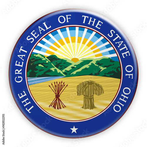 Fotografia  Badge US State Seal Ohio, 3d illustration