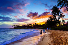 A Romantic Sunset On Kauai, Ha...