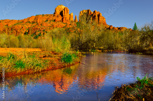 Sedona's Cathedral Rock viewed from Oak Creek