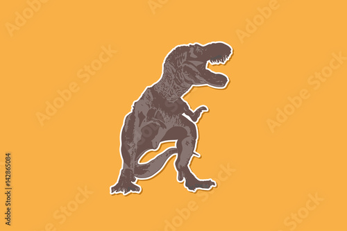 Photo  T-rex Dinosaur ,Ancient animals vector